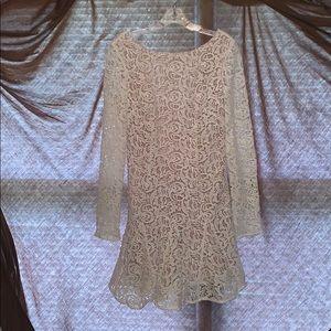 White/Cream Mini Dress